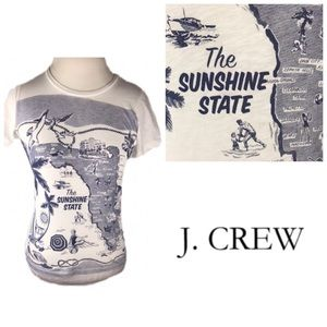 J. Crew Factory Florida Blue Print Collector Tee